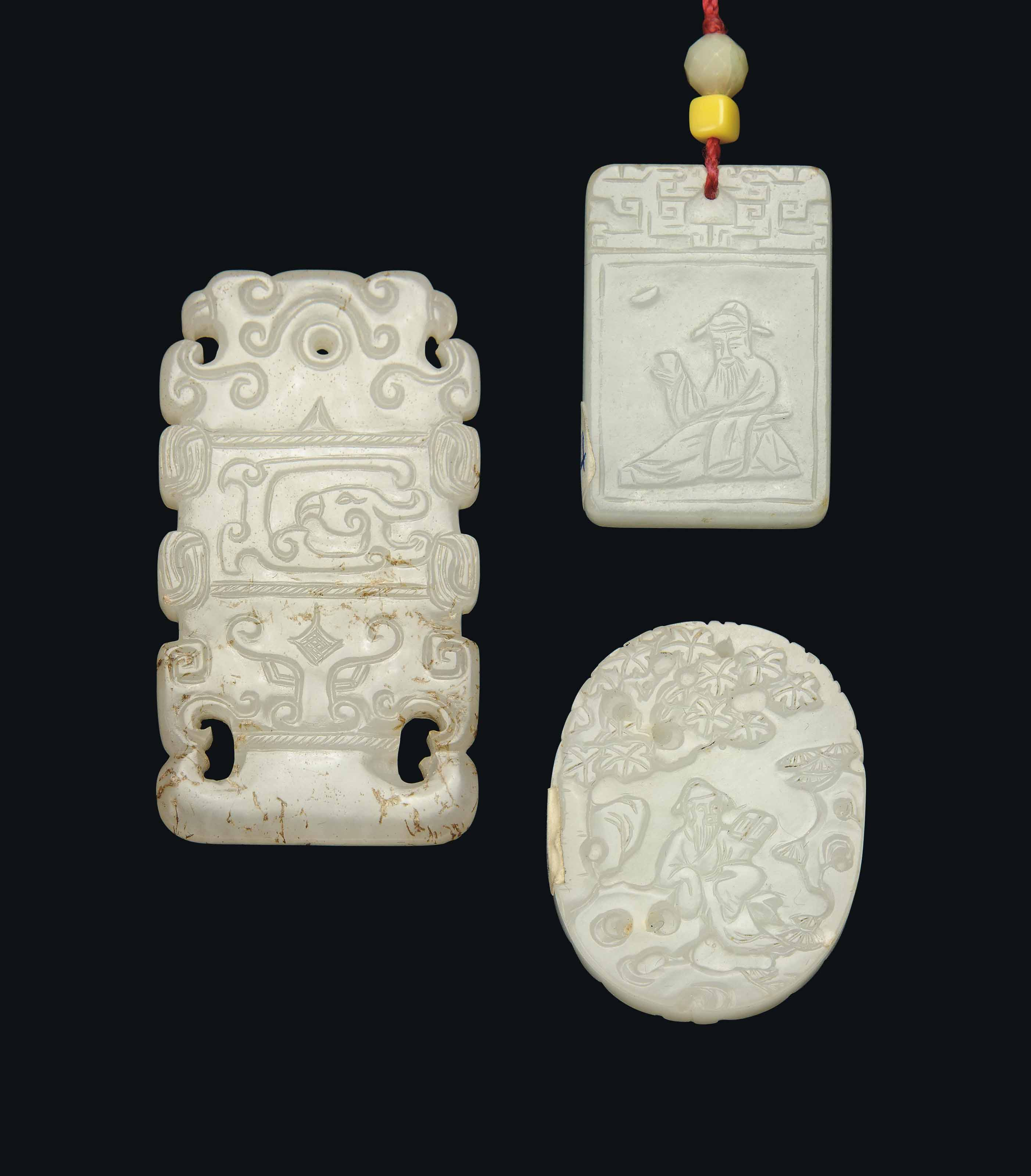 TWO WHITE JADE AND ONE PALE CE