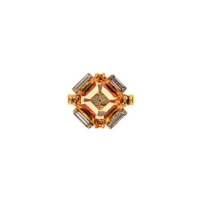 An 18ct gold, topaz and diamon