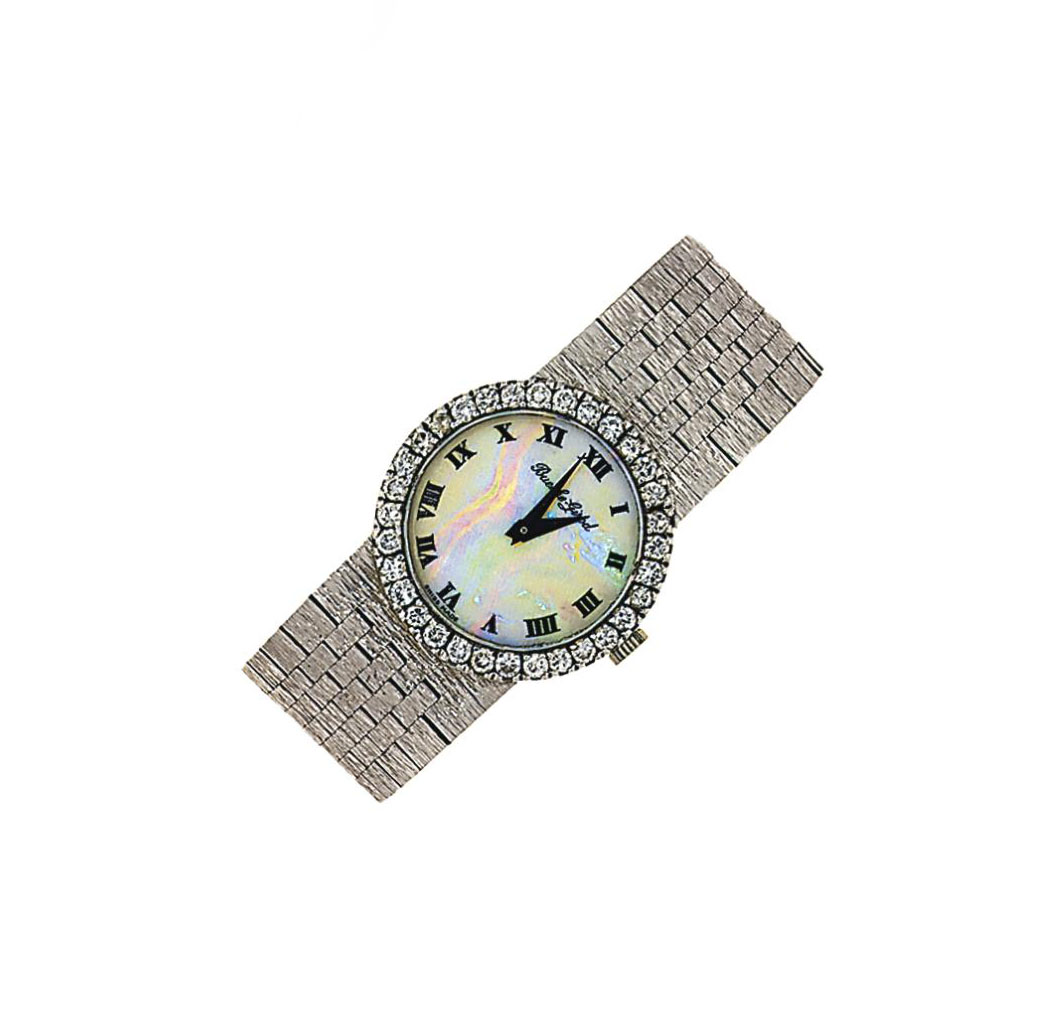 A diamond-set wristwatch, by Bueche-Girod
