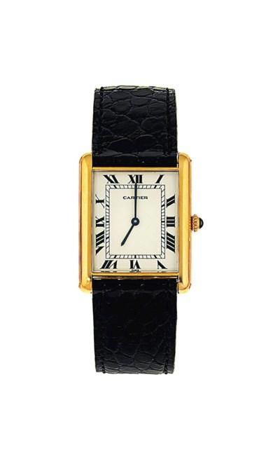 An automatic 'Tank' wristwatch