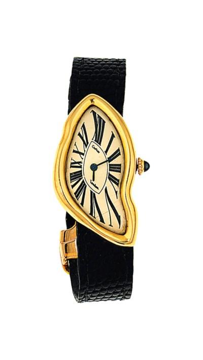 An 18ct gold 'Crash' wristwatc
