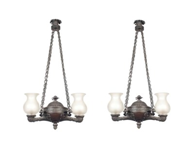 A PAIR OF REGENCY BRONZE COLZA