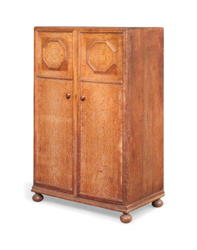 A LIMED OAK WARDROBE