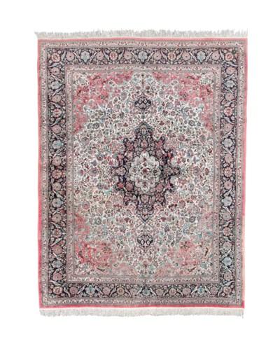 A fine silk Chinese carpet