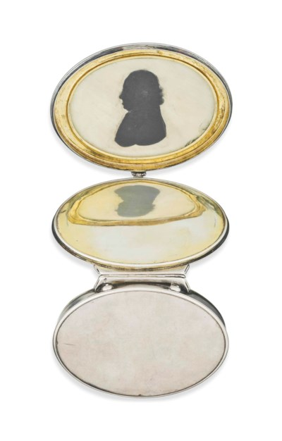 A GEORGE I OVAL SILVER DOUBLE-