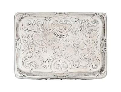 A MALTESE SILVER SNUFF BOX