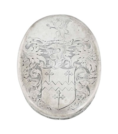 A WILLIAM AND MARY SILVER TOBA