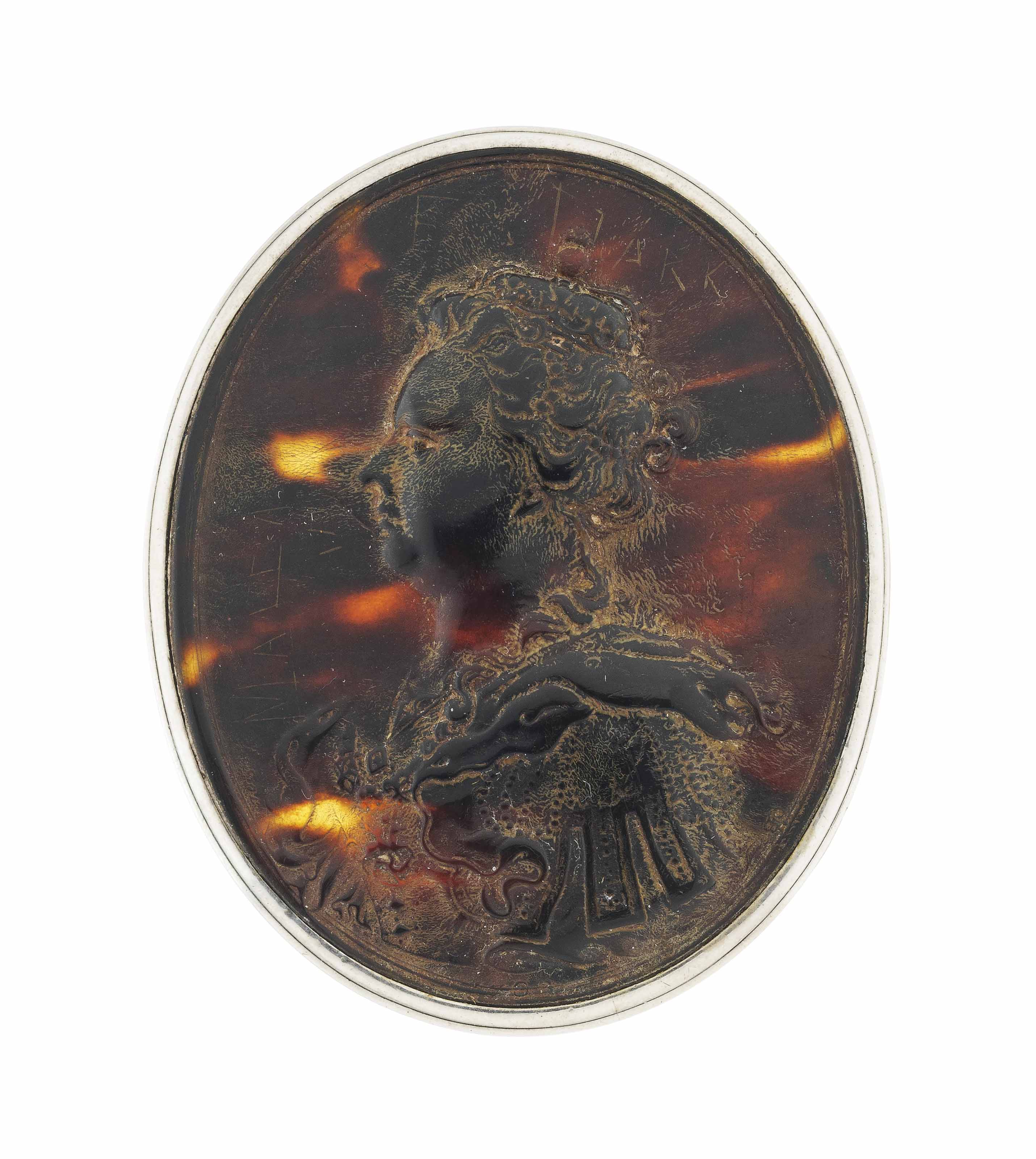 A QUEEN ANNE SILVER-MOUNTED TO