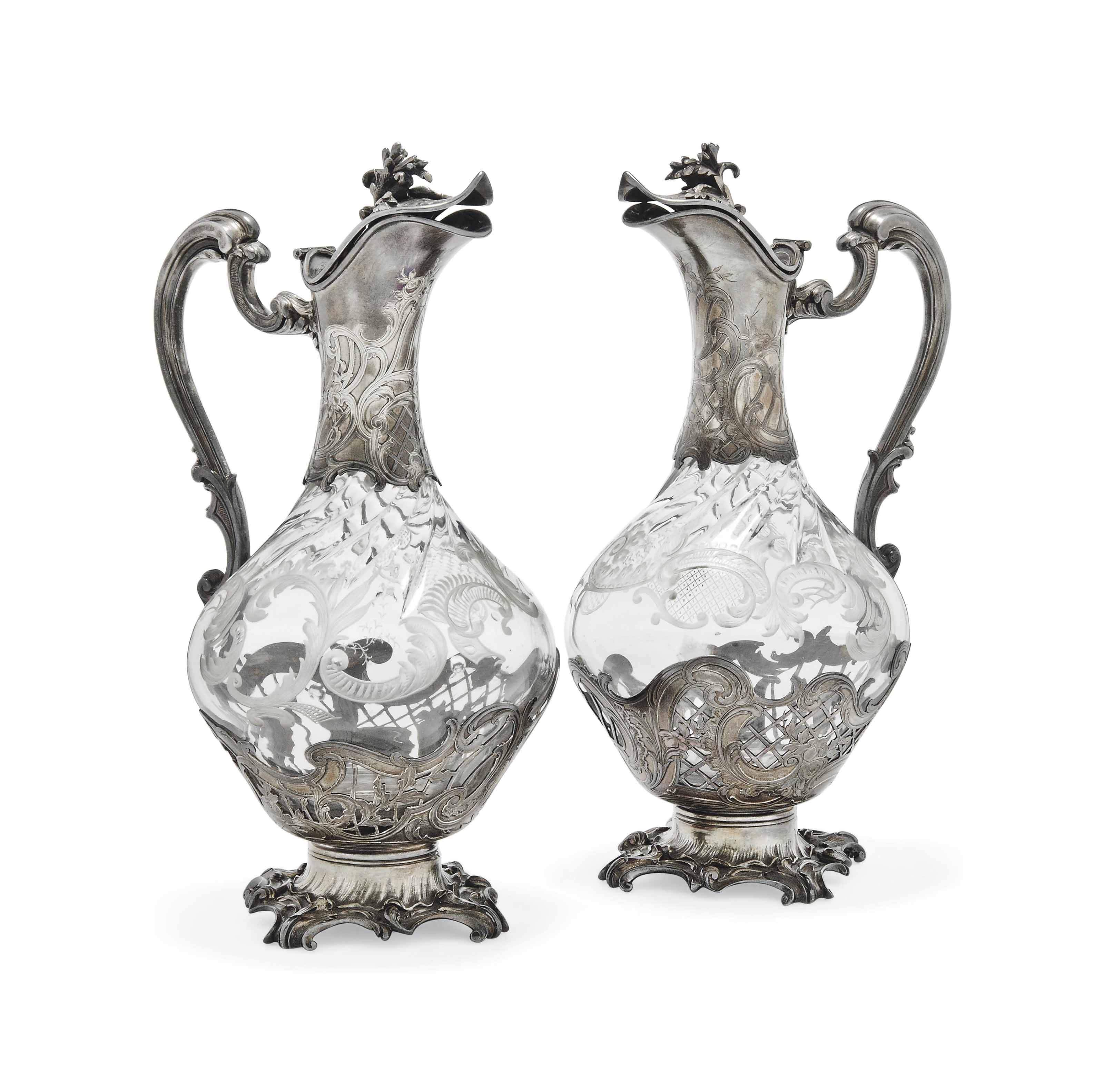 TWO VERY SIMILAR FRENCH SILVER