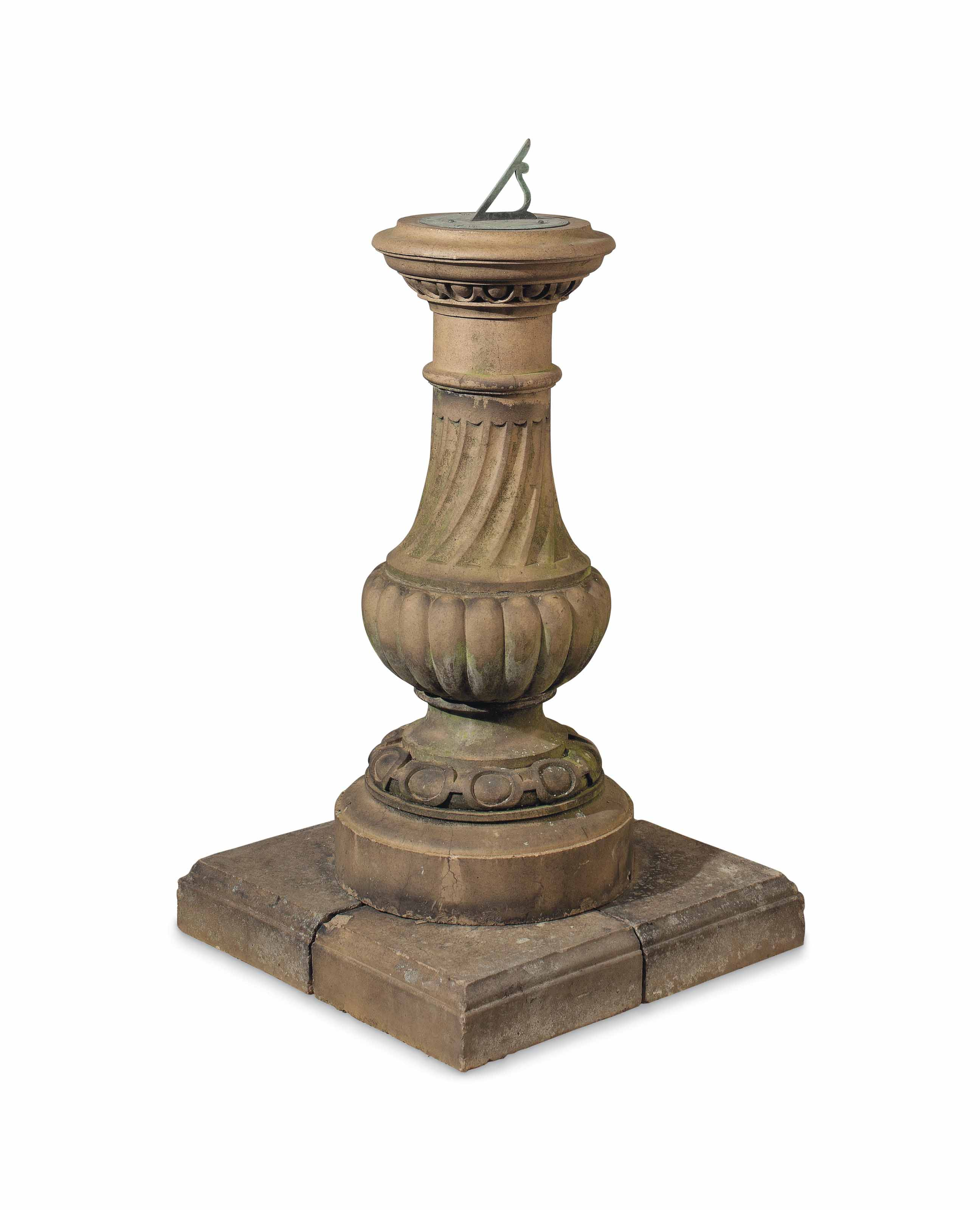 AN ENGLISH STONEWARE SUNDIAL P