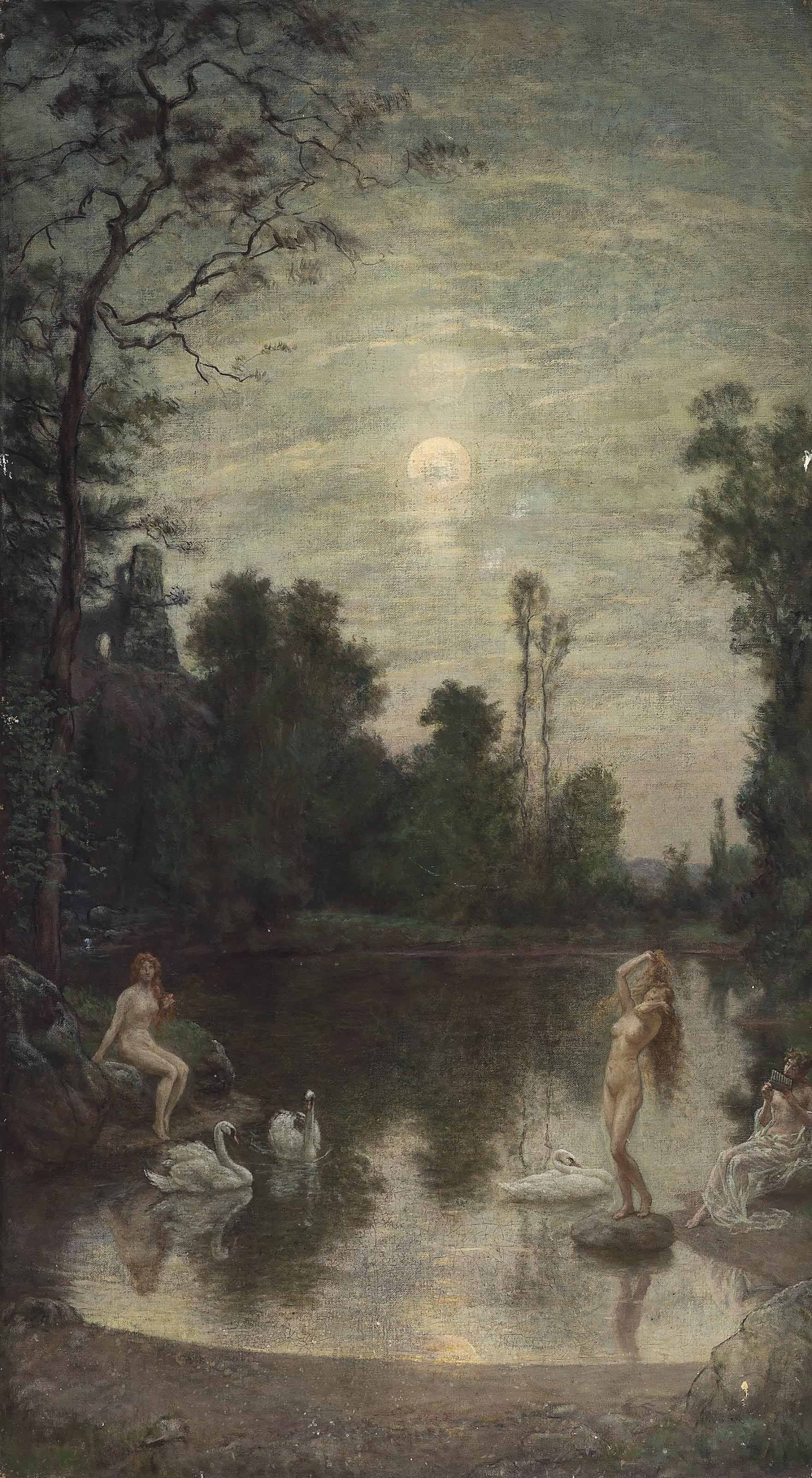 The three beauties by moonlight