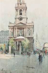 St Mary-Le-Strand, London; and Eros, Piccadilly Circus