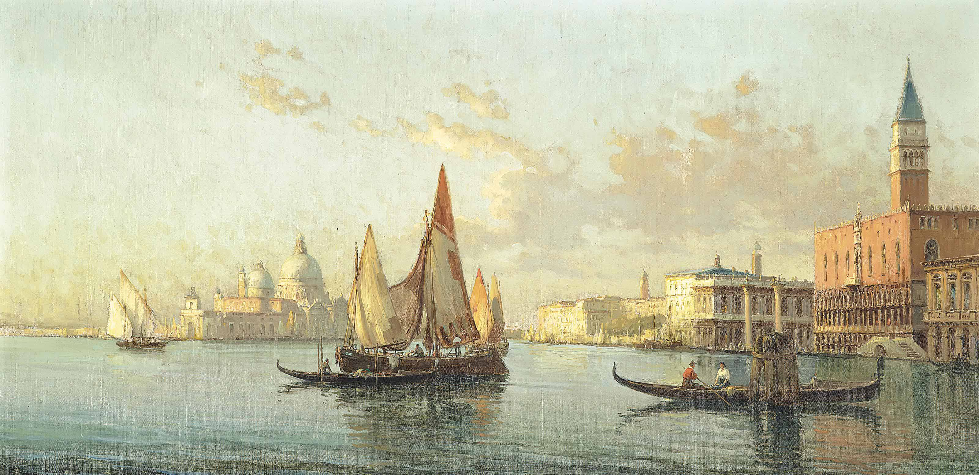 Vessels before the Doge's Palace, at the entrance to the Grand Canal, Venice