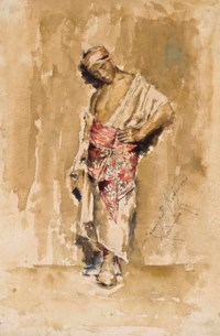 A standing Moroccan man