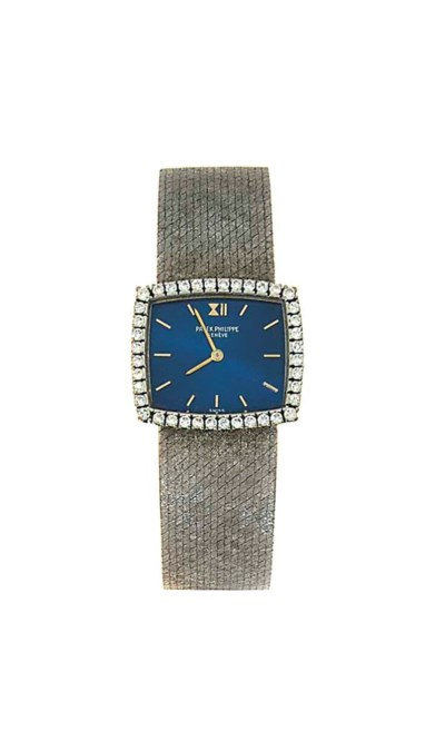 A diamond-set wristwatch, by P