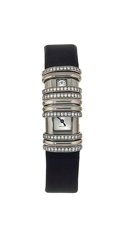 A lady's white gold and titani
