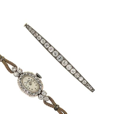 A diamond-set watch, by Hamilt