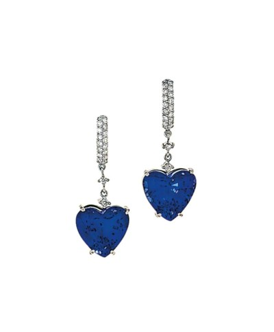 A pair of tanzanite and diamon
