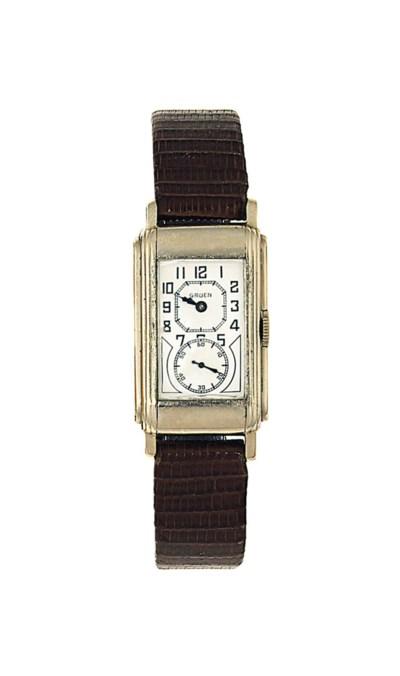 An Art Deco white gold wristwa