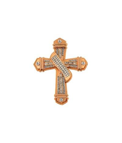 A diamond pectoral cross penda