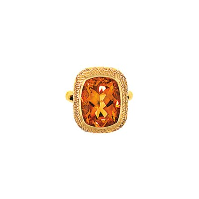 A citrine ring, by Boucheron