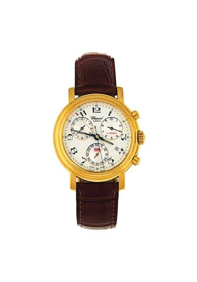 An 18ct gold quartz chronograp