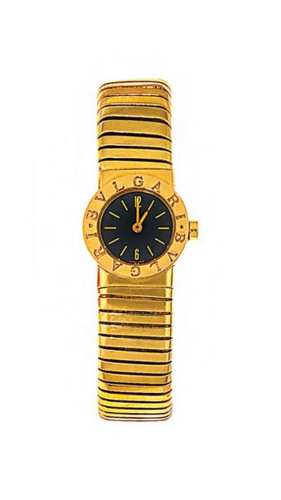 An 18ct gold 'Tubogas' wristwa