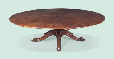 A MAHOGANY 'JUPE' STYLE EXTEND