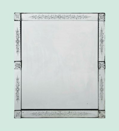A LARGE VENETIAN ETCHED GLASS