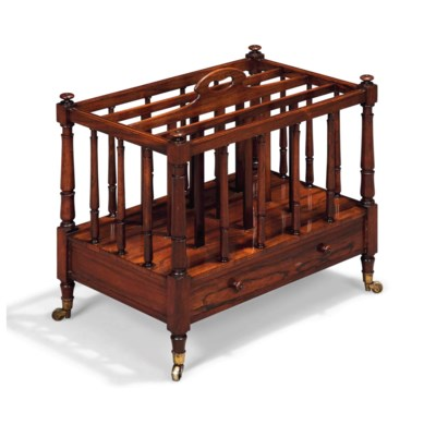 A LARGE REGENCY ROSEWOOD CANTE