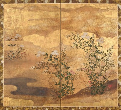 A Japanese Two-Panel Screen