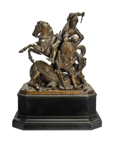 A FRENCH BRONZE GROUP OF CHARL
