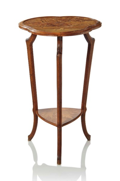A GALLE MARQUETRY TWO-TIER OCC