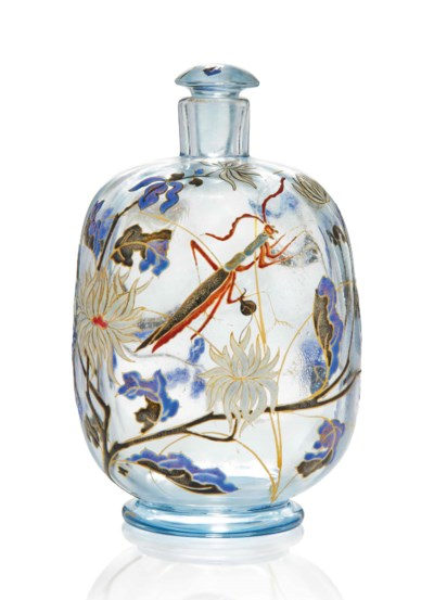 AN EMILE GALLE ENAMELLED SCENT