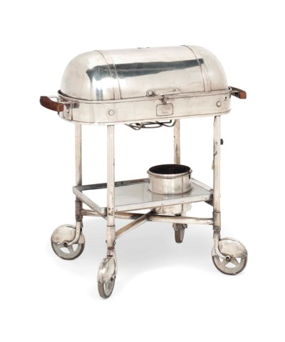A FRENCH SILVER-PLATED BEEF TR