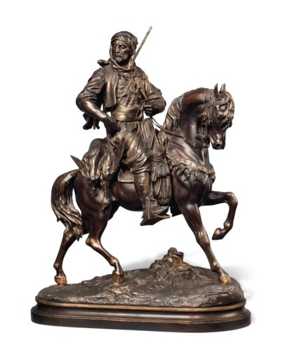 A FRENCH SPELTER ORIENTALIST E
