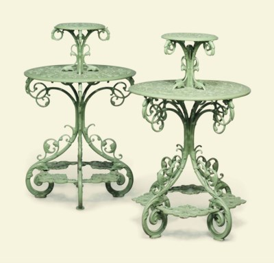 A PAIR OF VICTORIAN TWO-TIER P