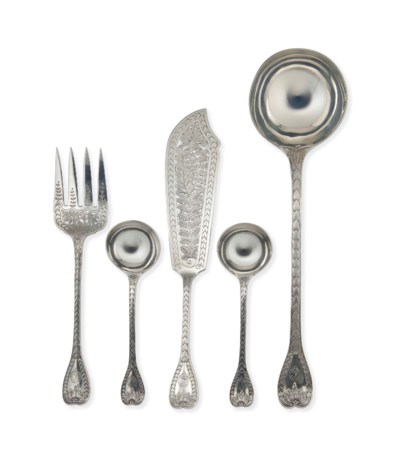 A GROUP OF VICTORIAN SILVER SE