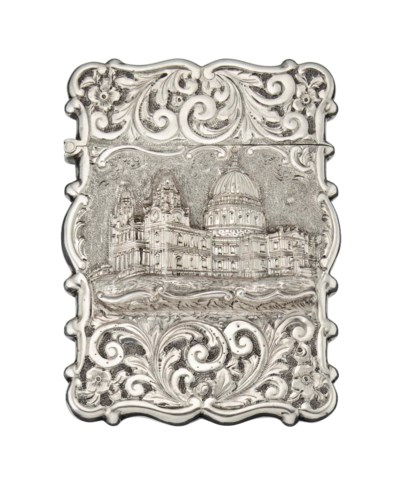 A VICTORIAN SILVER CARD CASE