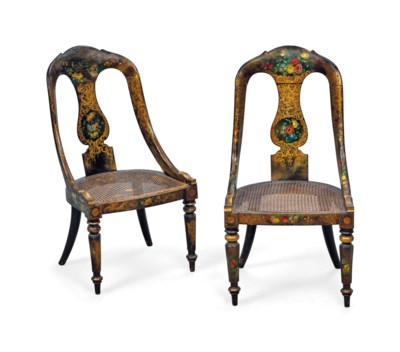 A PAIR OF VICTORIAN JAPANNED A