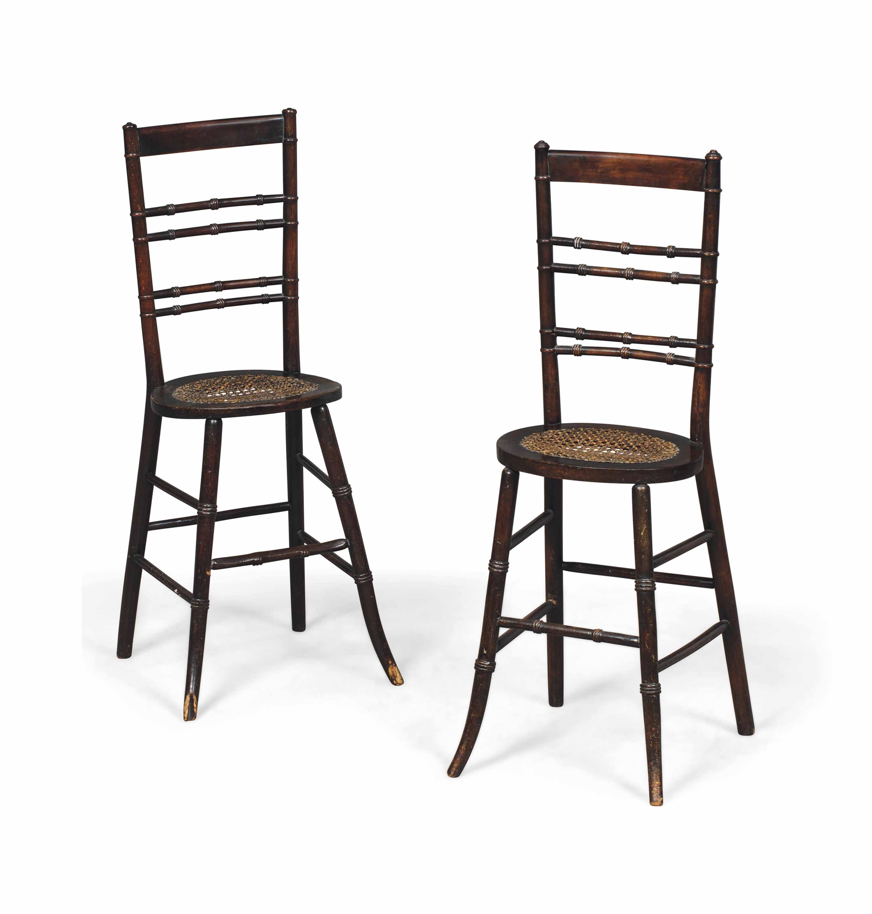 A PAIR OF REGENCY BEECH CORRECTION CHAIRS