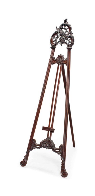 A VICTORIAN WALNUT GALLERY EAS