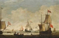 The Dutch fleet getting underway from their anchorage off Amsterdam