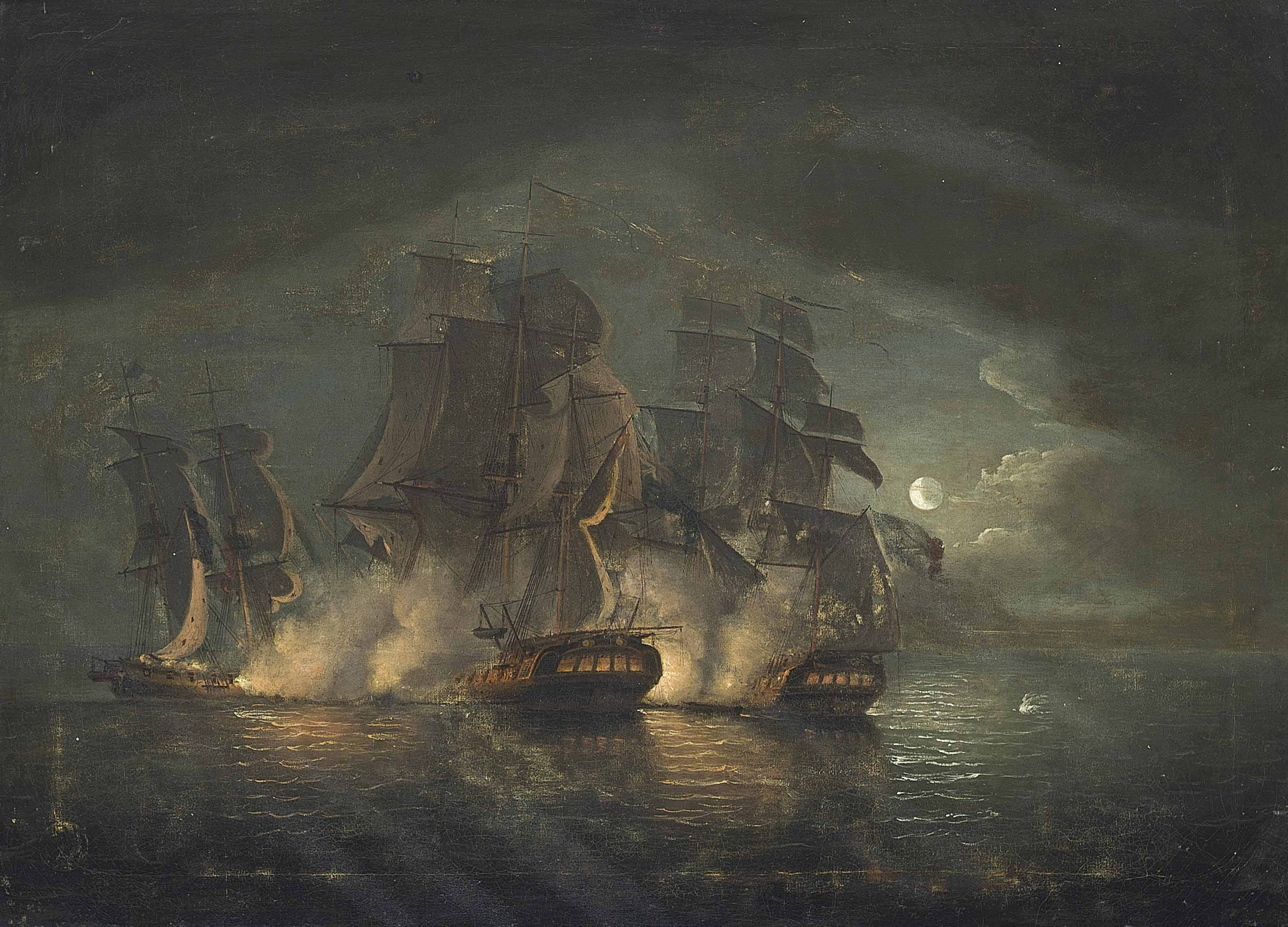 An Anglo-French engagement by moonlight
