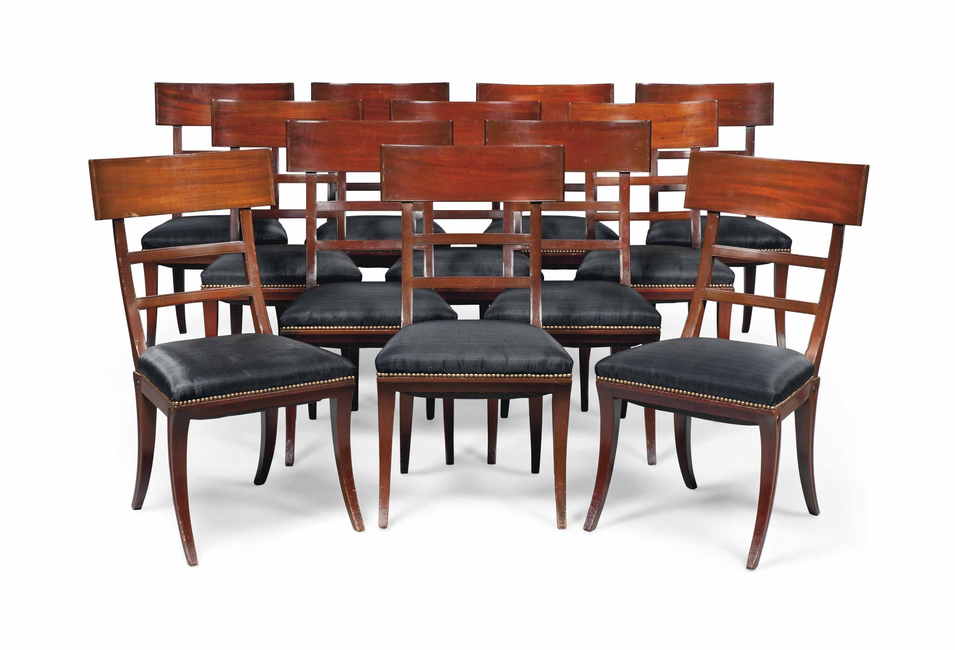 Superb A Set Of Twelve French Mahogany Dining Chairs One Pabps2019 Chair Design Images Pabps2019Com