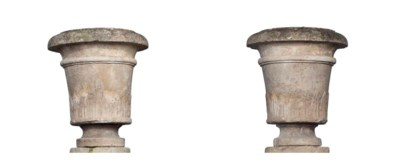 A PAIR OF DIRECTOIRE LIMESTONE