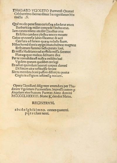 CLAUDIANUS, Claudius (c. 370-4