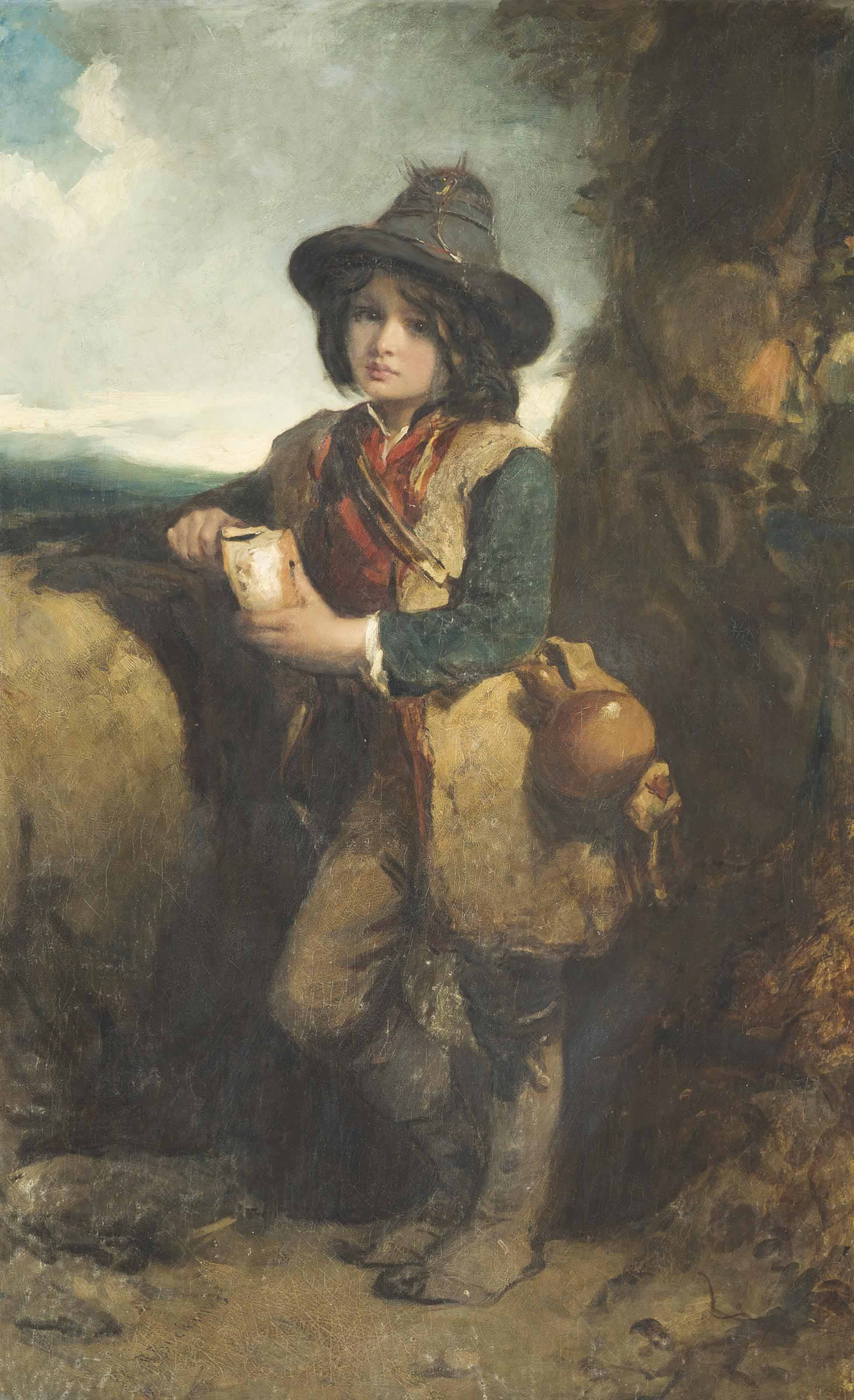 Angelo, a peasant boy of the Roman campagna
