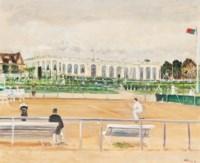 Partie de tennis à Deauville