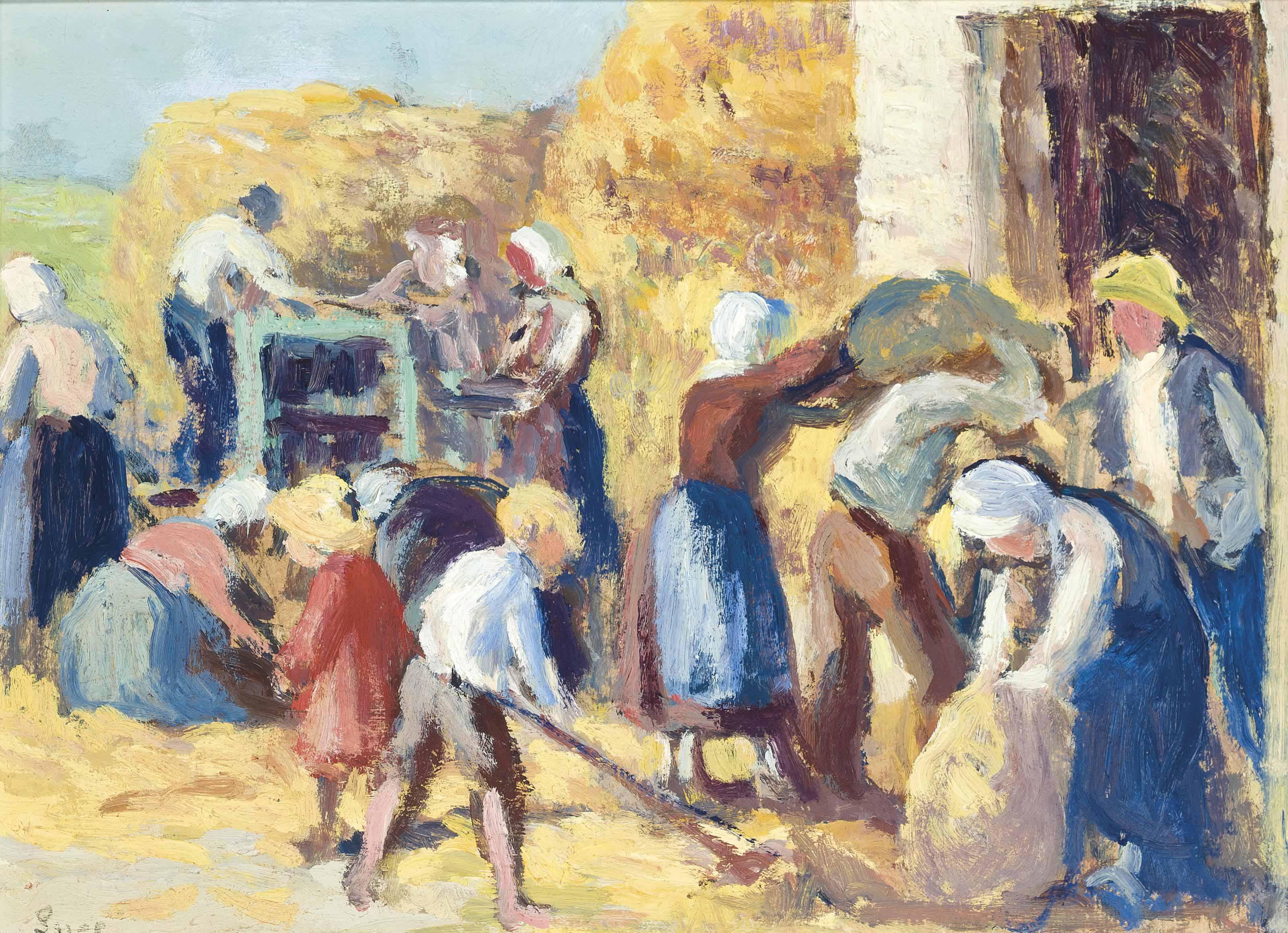 Maximilien Luce (1858-1941) | Kermouster, La moisson | 20th ...